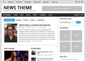 image of the news theme for WordPress