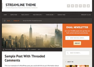 image of the streamline theme for WordPress