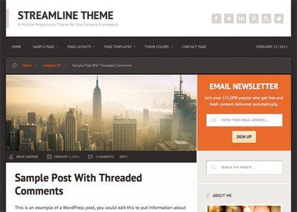 image of streamline theme