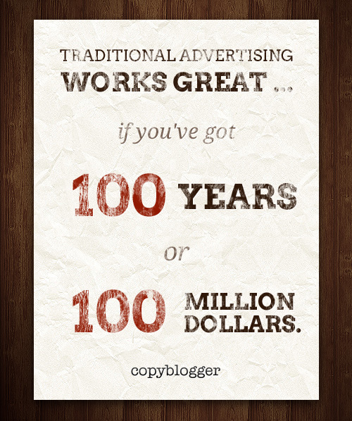 Traditional Advertising Works Great …
