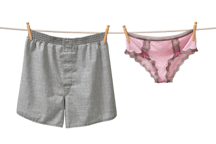 image of underpants on a clothesline