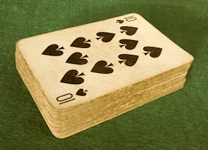 image of vintage deck of cards