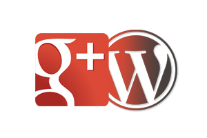 Image of WordPress and Google+ Icons