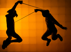 image of fencers