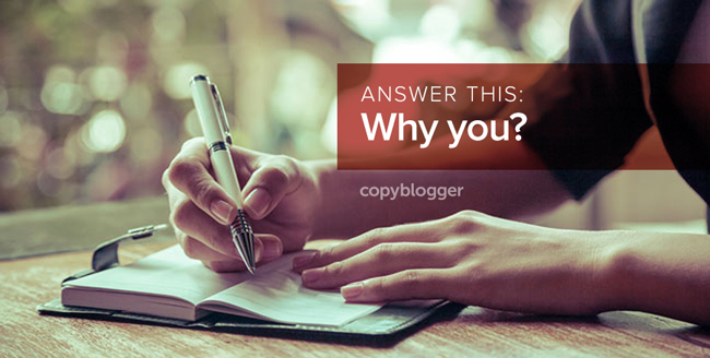 answer this: why you?