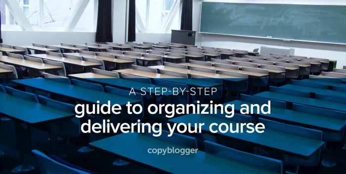 a step-by-step guide to organizing and delivering your course