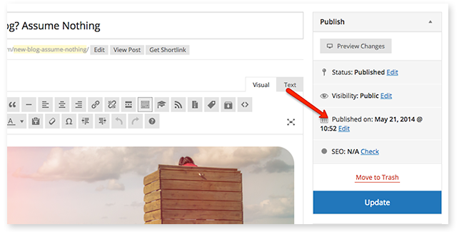 update-publish-date
