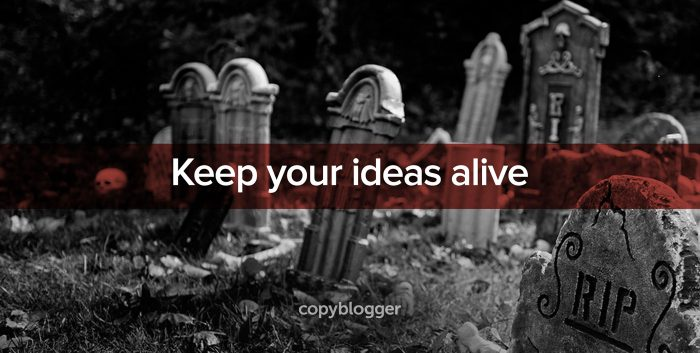 keep your ideas alive