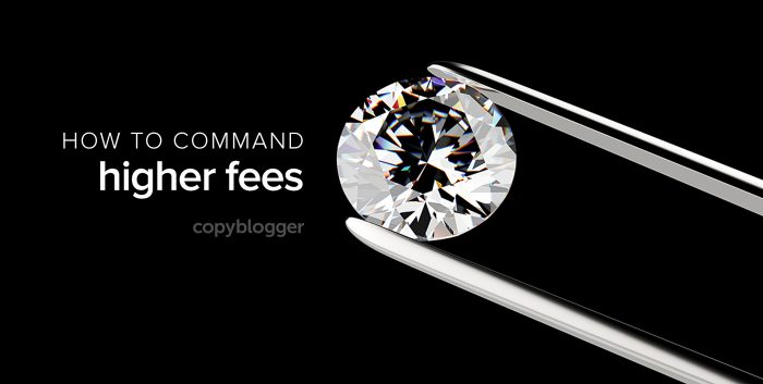 how to command higher fees
