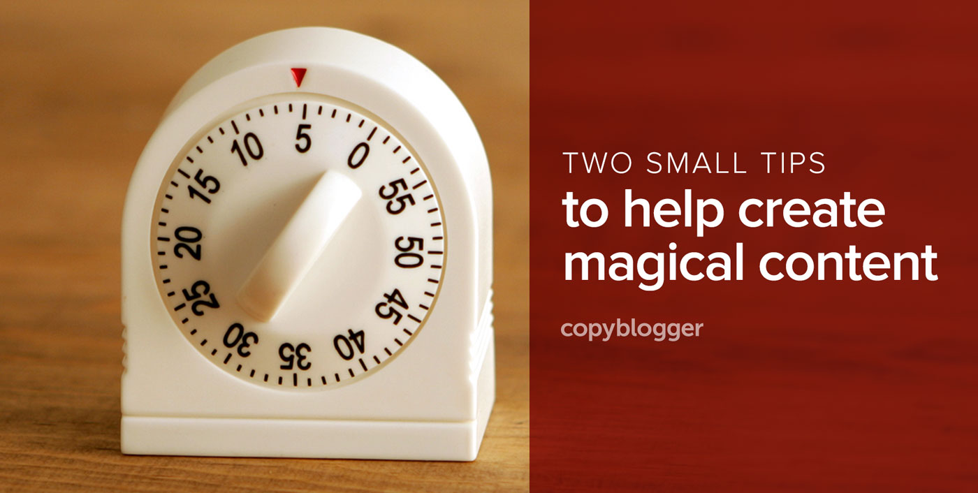 Make Content Magic with Deliberate Imitation and a Simple Kitchen Timer