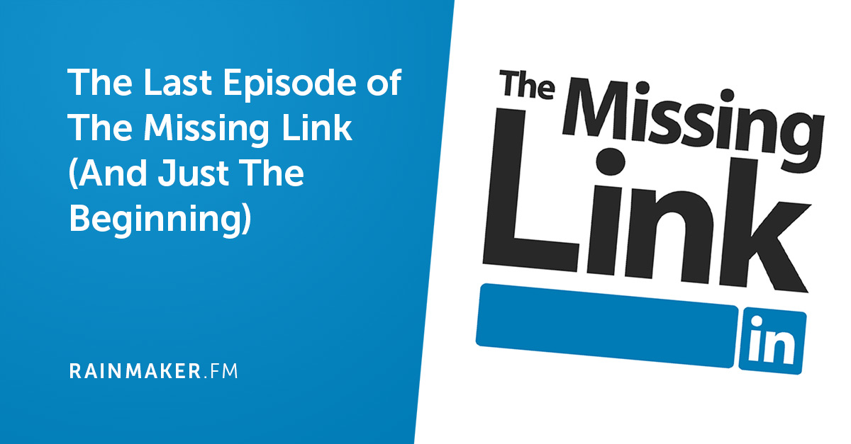 Announcement: The Last Episode of The Missing Link (and Just the Beginning)