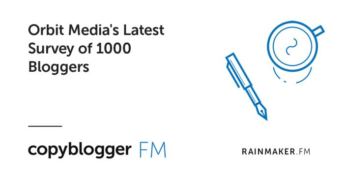 Orbit Media's Latest Survey of 1000 Bloggers