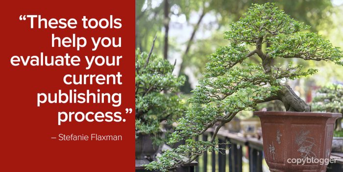 """These tools help you evaluate your current publishing process."" – Stefanie Flaxman"