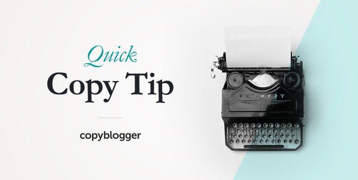 Quick Copy Tip