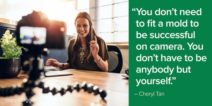 """You don't need to fit a mold to be successful on camera. You don't have to be anybody but yourself."" – Cheryl Tan"