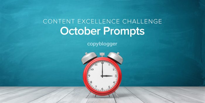 2017 Content Excellence Challenge: The October Prompts