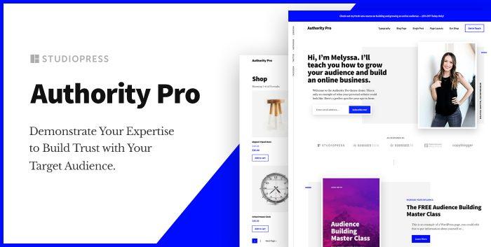 Authority Pro Premium WordPress Theme from StudioPress