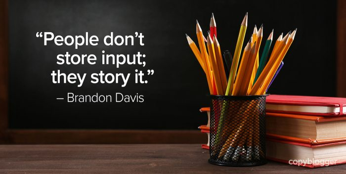 people don't store input they story it