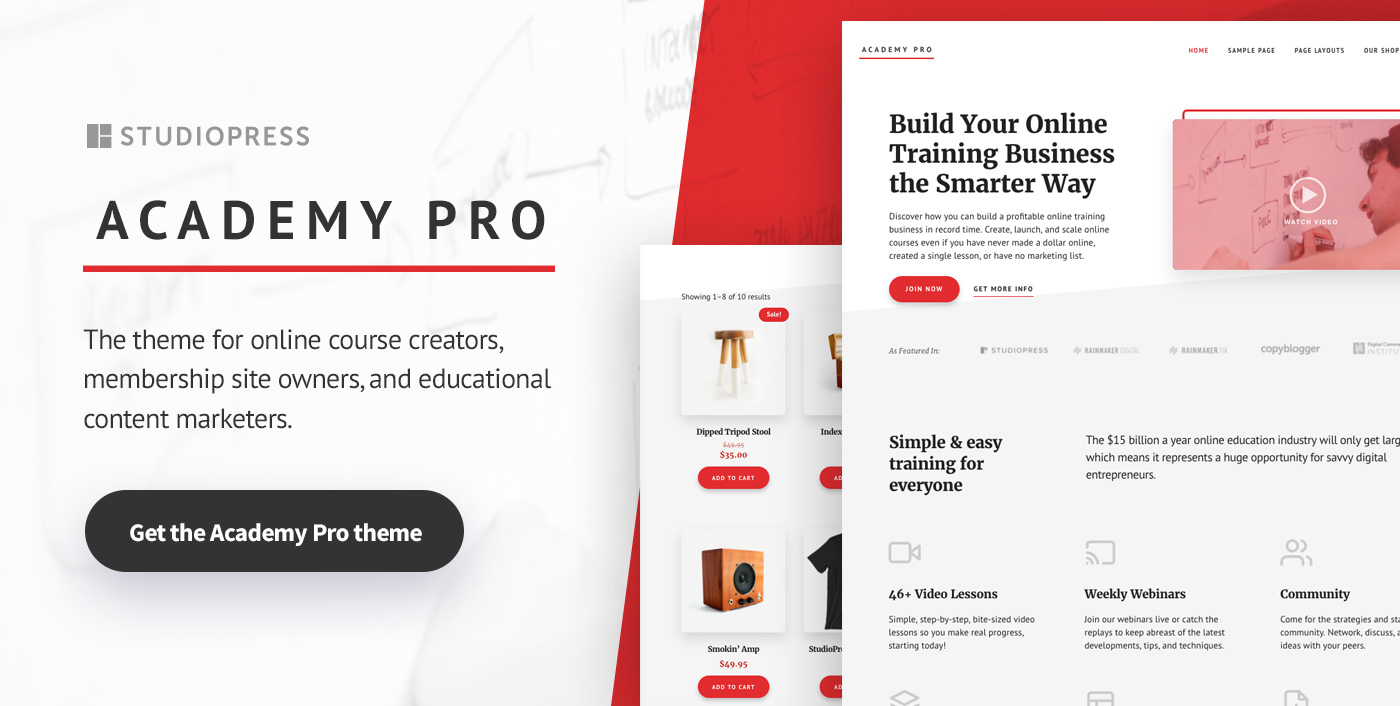 Academy Pro: A WordPress Theme for Online Courses and Membership Sites