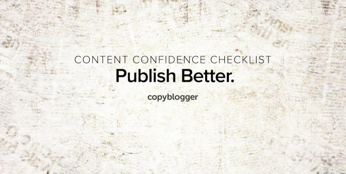 content confidence checklist - publish better