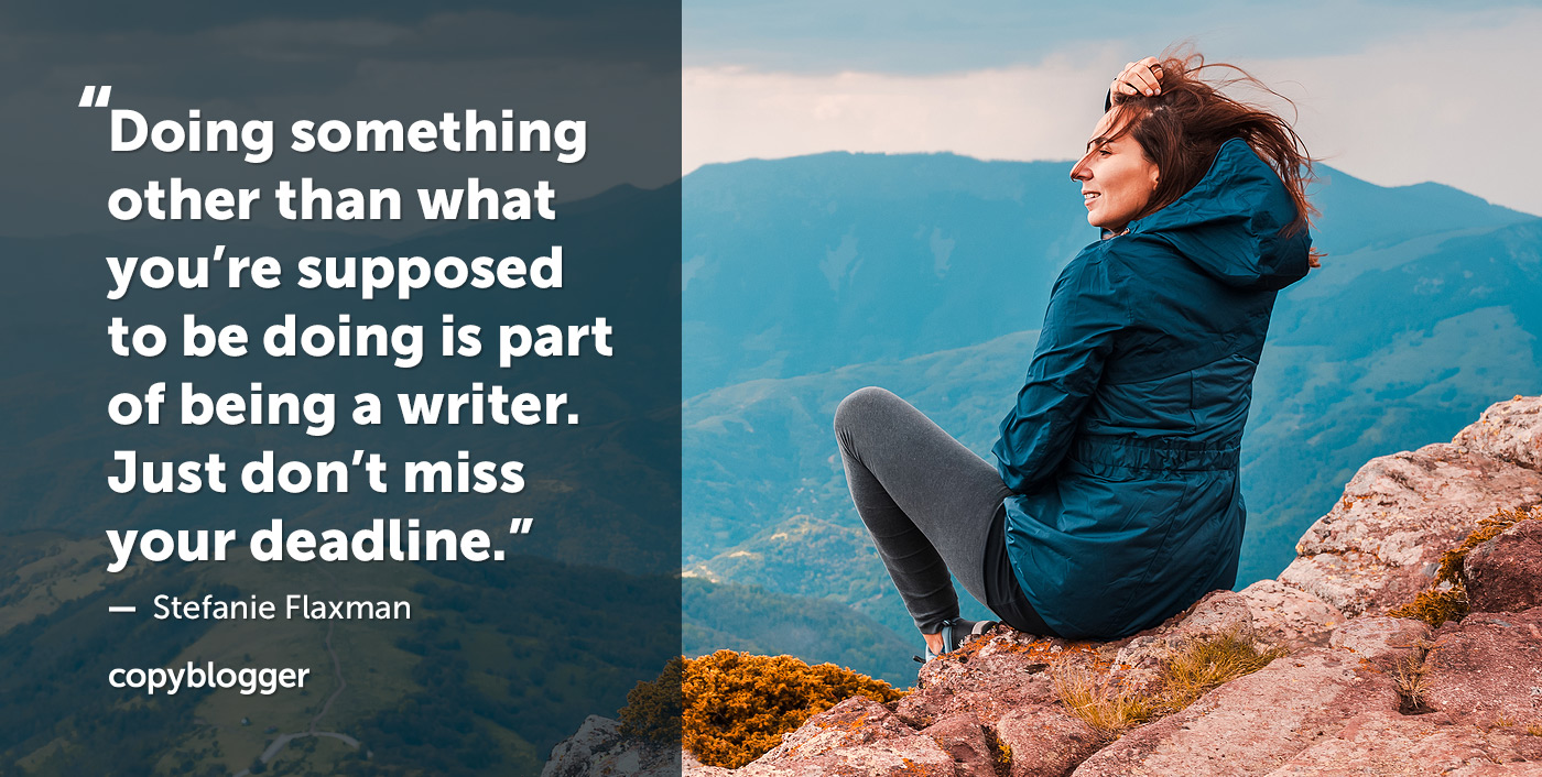 When You Don't Feel Like Writing, Do You Take a Break or Keep Working?